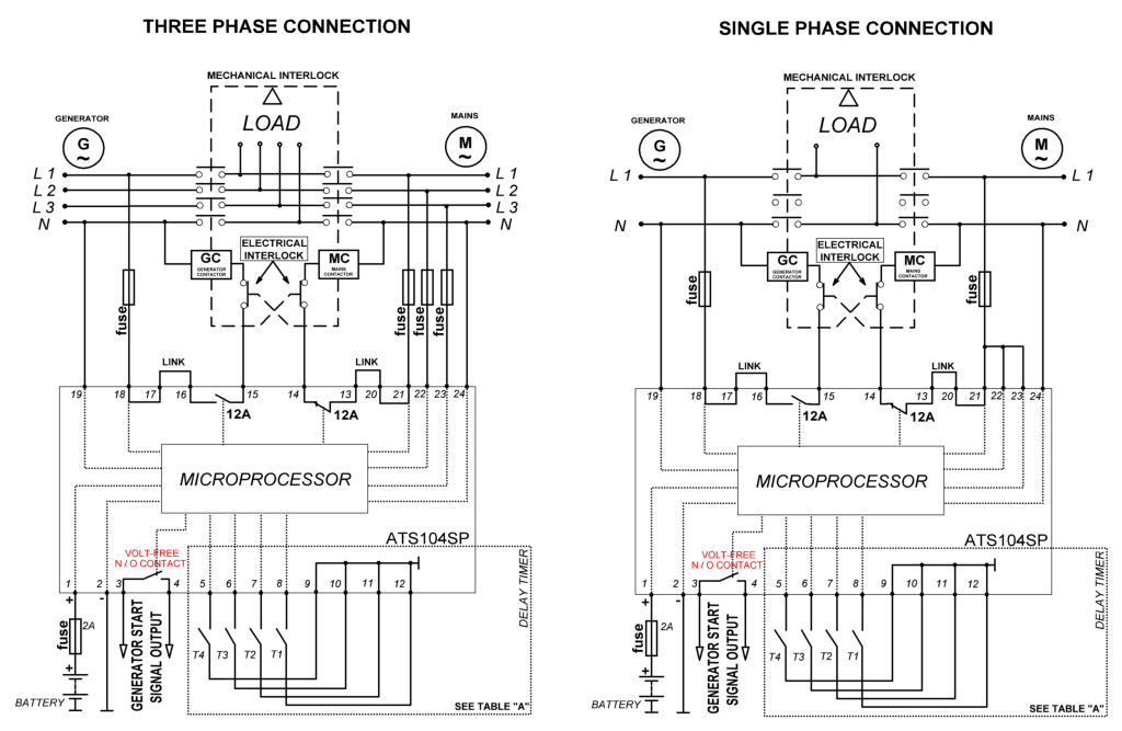 Phase Amf Connections on 12 Volt Relay Wiring Diagrams