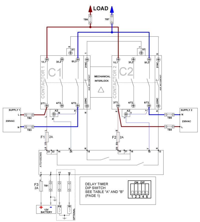 inverter transfer switch wiring diagram inverter-mains automatic transfer switch ats panel | ebay coleman generator transfer switch wiring diagram