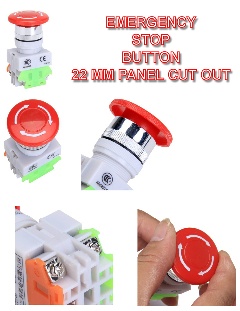 1no1nc emergency stop push button switch ebay description emergency stop asfbconference2016 Images