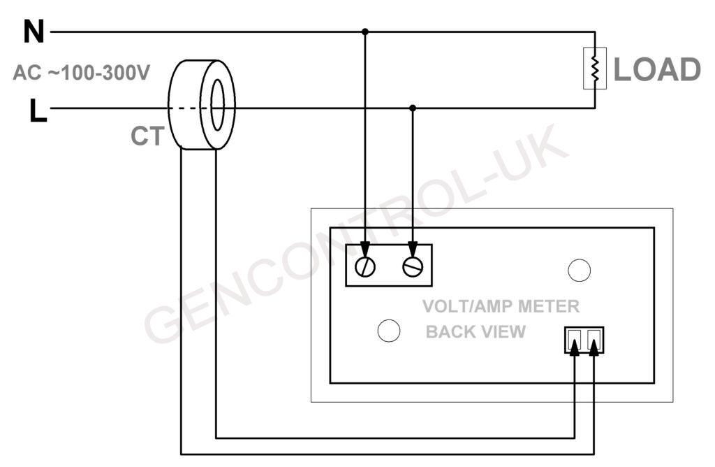 Digital Voltmeter Ammeter Amp Volt Meter Panel   Current Transformer